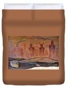 Sego Canyon Indian Petroglyphs And Pictographs Duvet Cover