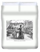 Segregated School, 1870 Duvet Cover