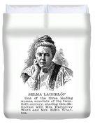 Selma Lagerlof (1858-1940) Duvet Cover
