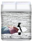 Surfer Umbrella Duvet Cover