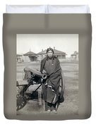 Sioux Warrior, 1891 Duvet Cover