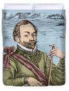 Sir Francis Drake, English Explorer Duvet Cover