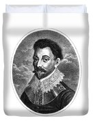 Sir Francis Drake, English Explorer Duvet Cover