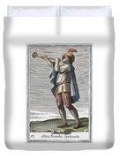Slide Trumpet, 1723 Duvet Cover