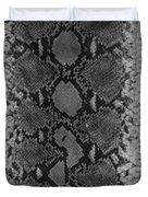 Snake Skin In Black And White Duvet Cover