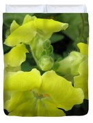 Snapdragon From The Mme Butterfly Mix Duvet Cover