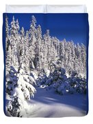 Snow-covered Pine Trees On Mount Hood Duvet Cover by Natural Selection Craig Tuttle