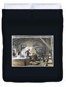 Soap Manufacture, C1870 Duvet Cover