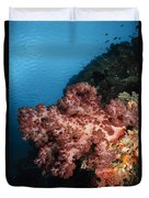 Soft Coral Seascape,  Indonesia Duvet Cover