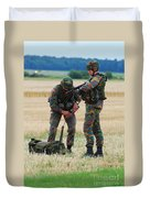 Soldiers Of The Belgian Army Duvet Cover