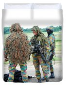 Soldiers Of The Special Forces Group Duvet Cover by Luc De Jaeger