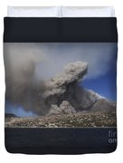 Soufriere Hills Eruption, Montserrat Duvet Cover