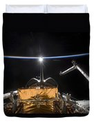 Space Shuttle Atlantis Payload Bay Duvet Cover