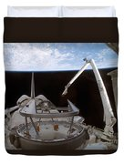 Space Shuttle Discoverys Payload Bay Duvet Cover