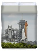 Space Shuttle Endeavour On The Launch Duvet Cover