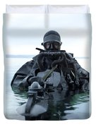 Special Operations Forces Combat Diver Duvet Cover