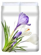 Spring Crocus Flowers Duvet Cover