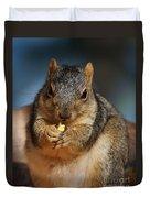 Squirrel Eating Corn Duvet Cover