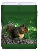 Squirrel Eating Duvet Cover