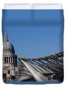 St Pauls Cathedral And The Millenium Bridge  Duvet Cover