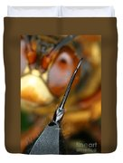 Stinger Of The Cicada Killer Wasp Duvet Cover