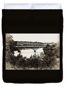 Strawberry Mansion Bridge From Laurel Hill Duvet Cover