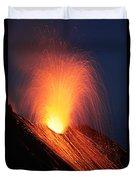 Strombolian Eruption Of Stromboli Duvet Cover