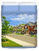 Suburban Homes Duvet Cover