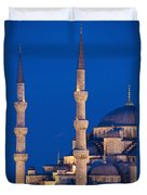 Sultanahmet Or Blue Mosque At Dusk Duvet Cover
