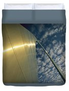 Sunlight Beams On The Gateway Arch Duvet Cover