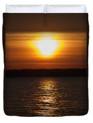 Sunrise On Seneca Lake Duvet Cover