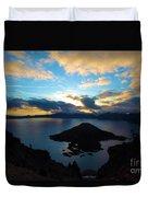 Sunrise Over The Wizard Duvet Cover