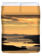 Sunset Over Water, Argyll And Bute Duvet Cover