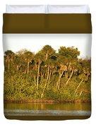 Sunset Palm Trees Duvet Cover
