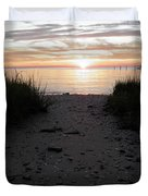 Sunset Through The Grass Cape Charles Virginia Duvet Cover