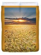 Sunset Wheat Duvet Cover