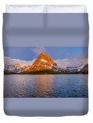Swiftcurrent Lake Panorama Duvet Cover
