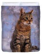 Tabby Cat Portrait Of A Cat Duvet Cover