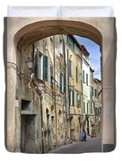 Taggia In Liguria Duvet Cover
