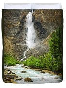 Takakkaw Falls Waterfall In Yoho National Park Canada Duvet Cover