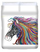 Tattooed Horse Duvet Cover