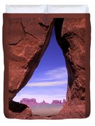 Teardrop Arch Monument Valley Duvet Cover
