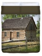 Teddy Roosevelt's Maltese Cross Log Cabin Duvet Cover