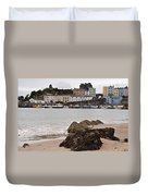 Tenby Harbour From North Beach Duvet Cover