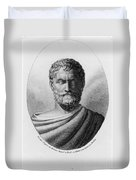 Thales, Ancient Greek Philosopher Duvet Cover by Photo Researchers, Inc.