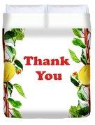 Thank You Card   Duvet Cover