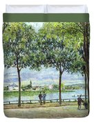 The Avenue Of Chestnut Trees Duvet Cover by Alfred Sisley