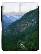 The Canada Pacific Train Travels Duvet Cover