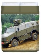 The Dingo 2 Mppv Of The Belgian Army Duvet Cover by Luc De Jaeger