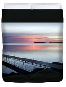 The Dock At Traders Bay Lodge On Leech Duvet Cover
